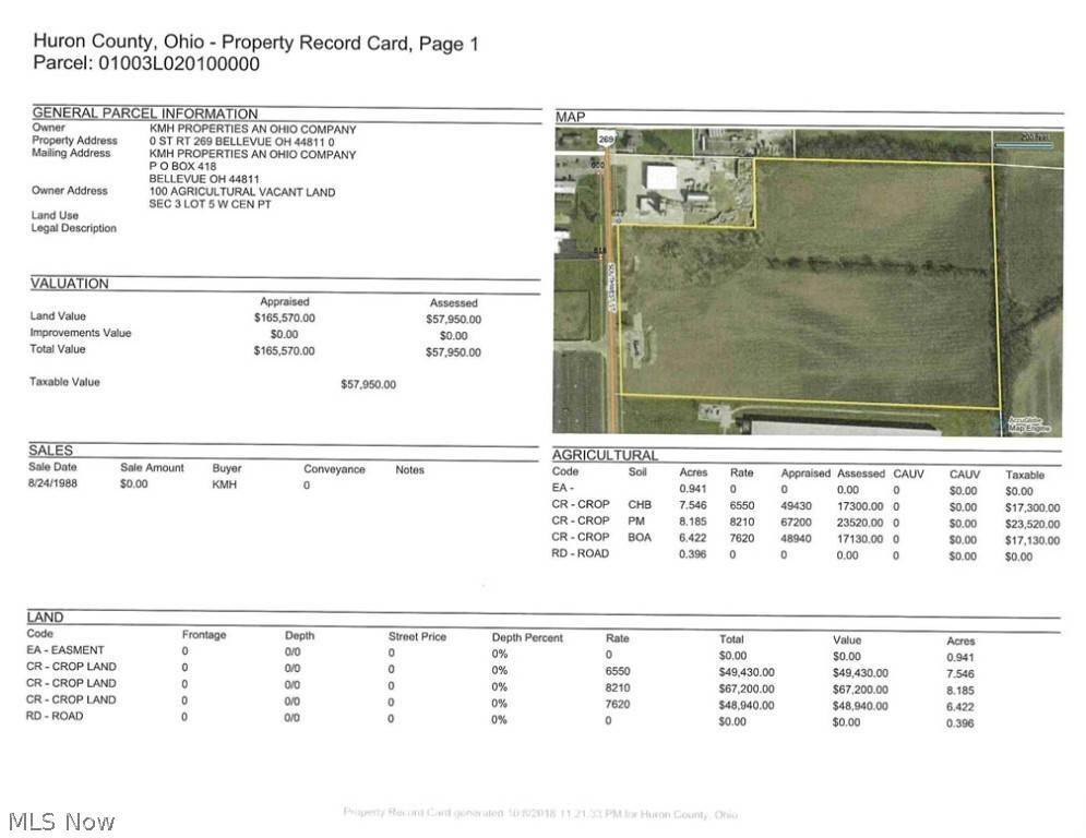 Single Family Homes for Sale at 23.49 ac V/L State Route 269 Bellevue, Ohio 44811 United States